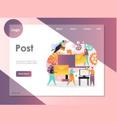post website landing page design template vector image