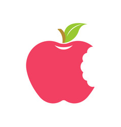 Red bitten apple logo vector
