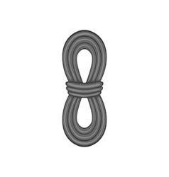 Rope icon black monochrome style vector