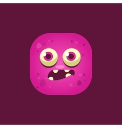 Scared Pink Monster Emoji Icon vector image