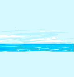 sea landscape in summer day vector image