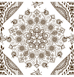 seamless texture with floral mandala vector image