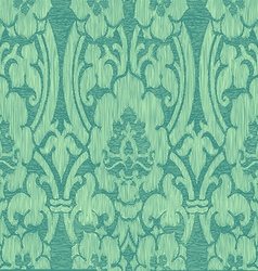 Seamless turquoise abstract striped floral pattern vector image