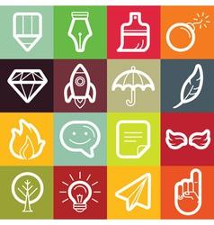 Set of design elements and logo symbols vector