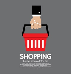 Shopping Basket in Hand vector image