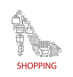 Shopping retail selling poster vector