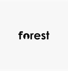 simple wordmark pine forest logo icon template vector image