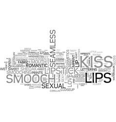 smooch word cloud concept vector image