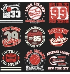Sport t-shirt set vector image