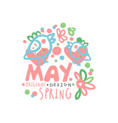 Spring may logo template original design with vector
