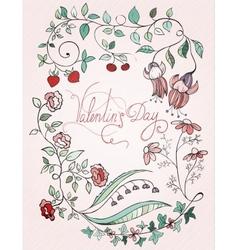 St valentin design card vector