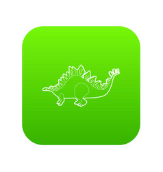 stegosaurus icon green vector image