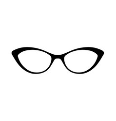 sunglasses or glasses silhouette vector image