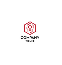 system company logo template vector image