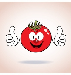 Tomato mascot cartoon character vector