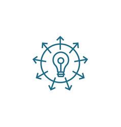 Versatile business linear icon concept versatile vector