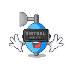Virtual reality ambu bag mascot cartoon vector