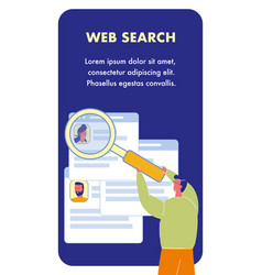 Web search flyer template with text space vector