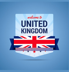 welcome-to-uk vector image