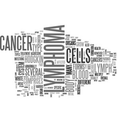 What is lymphoma text word cloud concept vector