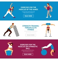 Workout Banner Set vector