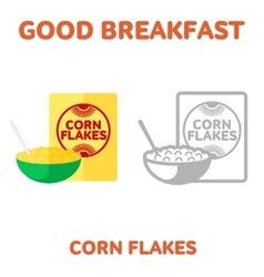 breakfast 1205 elements 07 vector image vector image