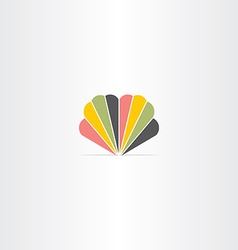 colorful logo abstract business icon symbol design vector image vector image