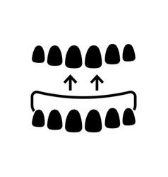 implanted teeth icon black vector image vector image
