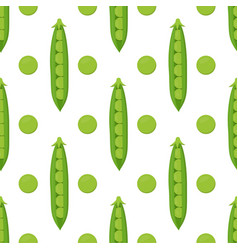 pattern with peas vector image