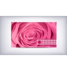 Card and roses vector image vector image