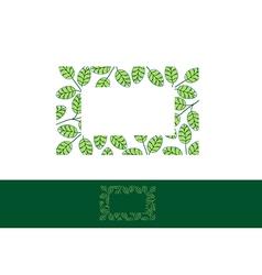 Moringa Leaf Frame vector image vector image