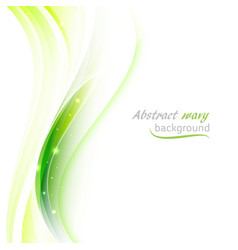 abstract background with transparent green wavy vector image