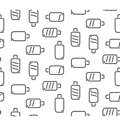 Battery seamless pattern vector image