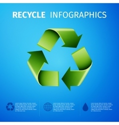 Recycle infographics vector