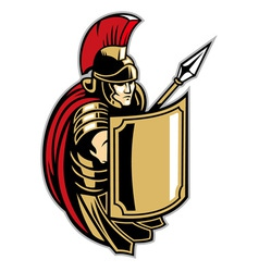 roman soldier with big shield vector image vector image