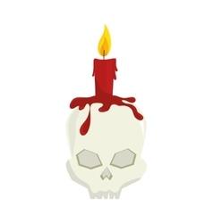 skull halloween card icon vector image