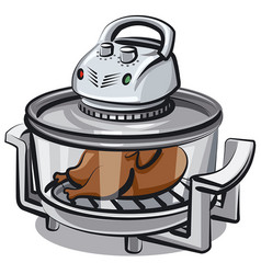 electric grill appliance vector image