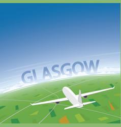 glasgow flight destination vector image vector image