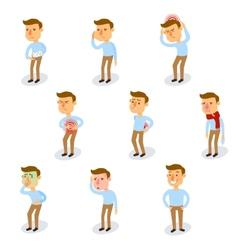 Sick Characters Set vector image vector image