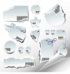 tags and paper elements vector image