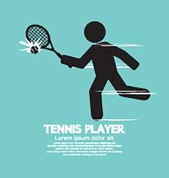 Tennis Player Black Graphic Symbol vector image vector image