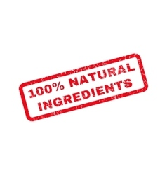 100 Percent Natural Ingredients Rubber Stamp vector
