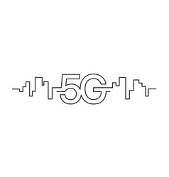 5g network wireless technology fifth generation vector image