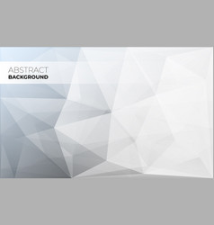 abstract modern triangle polygonal background vector image