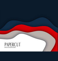 Abstract papercut layered background design vector