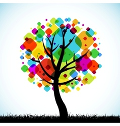 abstract tree colorful background vector image