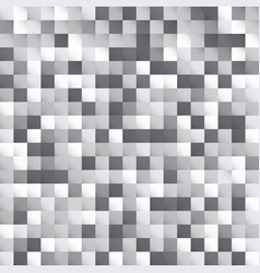 abstract white and gray squares pattern pixel vector image