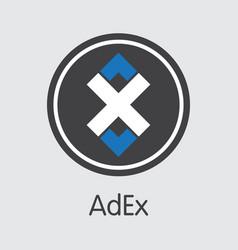 Adex digital currency adx coin symbol vector
