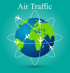 air travel on the ground vector image