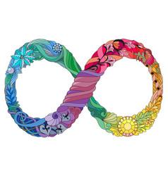 An infinity symbol vector